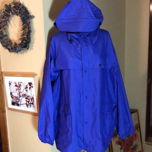 COLUMBIA XXL Unisex RainJacket Vent Hood $189 NEW